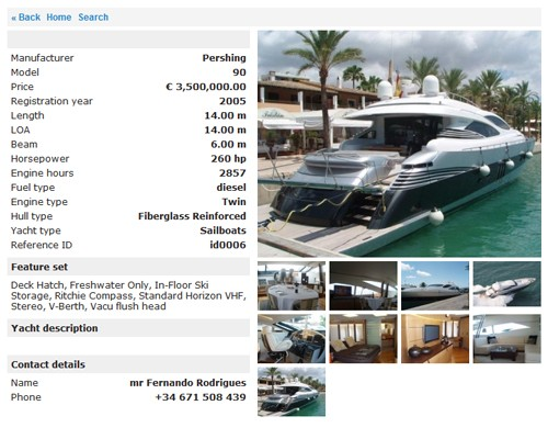Yacht Classified Script by StivaSoft