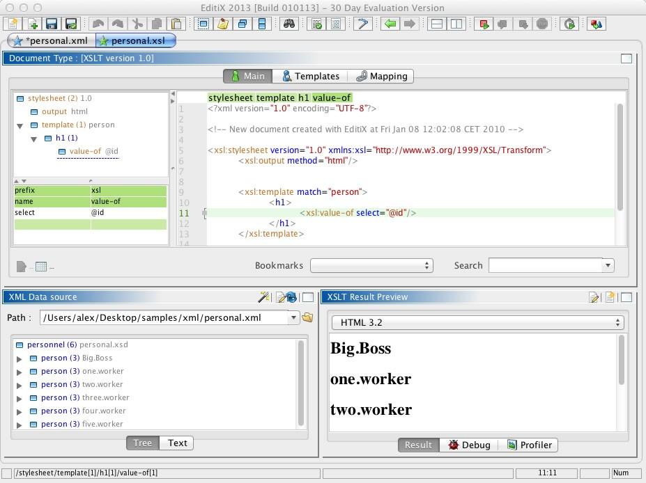 EditiX XML Editor (for Mac OS X)