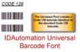 Universal Barcode Font Advantage